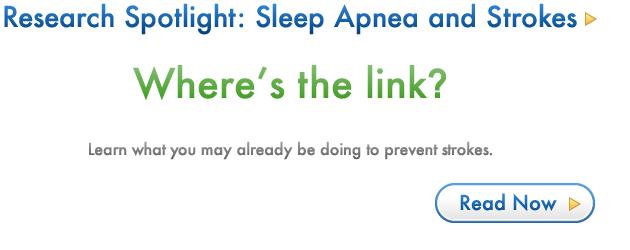 Sleep Apnea and Stroke